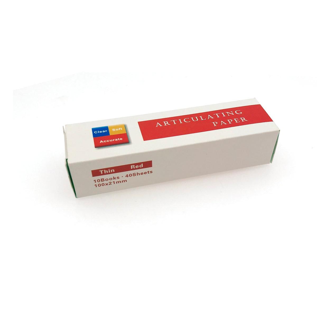 Стоматологическая артикуляционная бумага тонкие красные полоски 40 листов/книга 10 книг/коробка