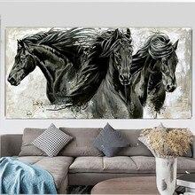 Grande pittura diamante 5D tre cavalli neri diamante ricamo vendita trapano rotondo quadrato mosaico fai da te diamante immagine animale YG2184