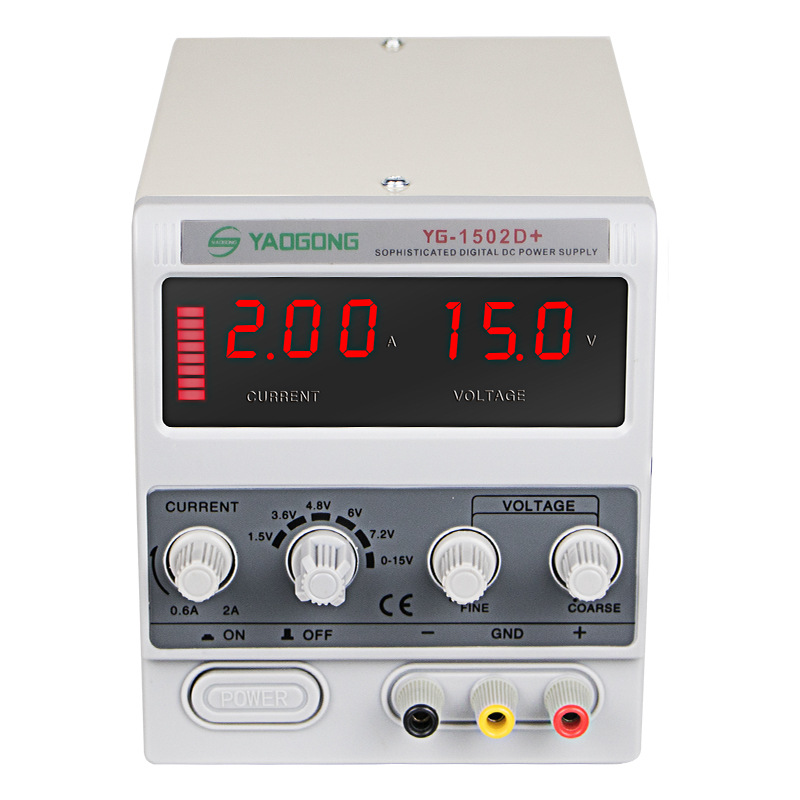 3 Digit Display Mini Laboratory Power Supply Voltage Regulator YAOGONG 1502D+ For Phone Repair 15V 2A DC Power Supply