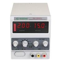 Pantalla de 3 dígitos Mini regulador de voltaje de fuente de alimentación de laboratorio YAOGONG 1502D + para reparación de teléfono 15V 2A fuente de alimentación de CC Estaciones de soldadura     -