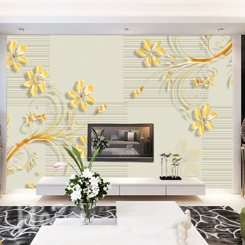 Modern Minimalist Decorative Pattern Sofa Bedroom TV Background Wallpaper Warm Green Leaf Butterfly Wallpaper Cool Wall Cloth Mu