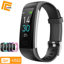 CHDX Bluetooth Color Screen Smart Bracelets Heart Rate Monitor Watches Fitness Traker Waterproof IP68 Wristband