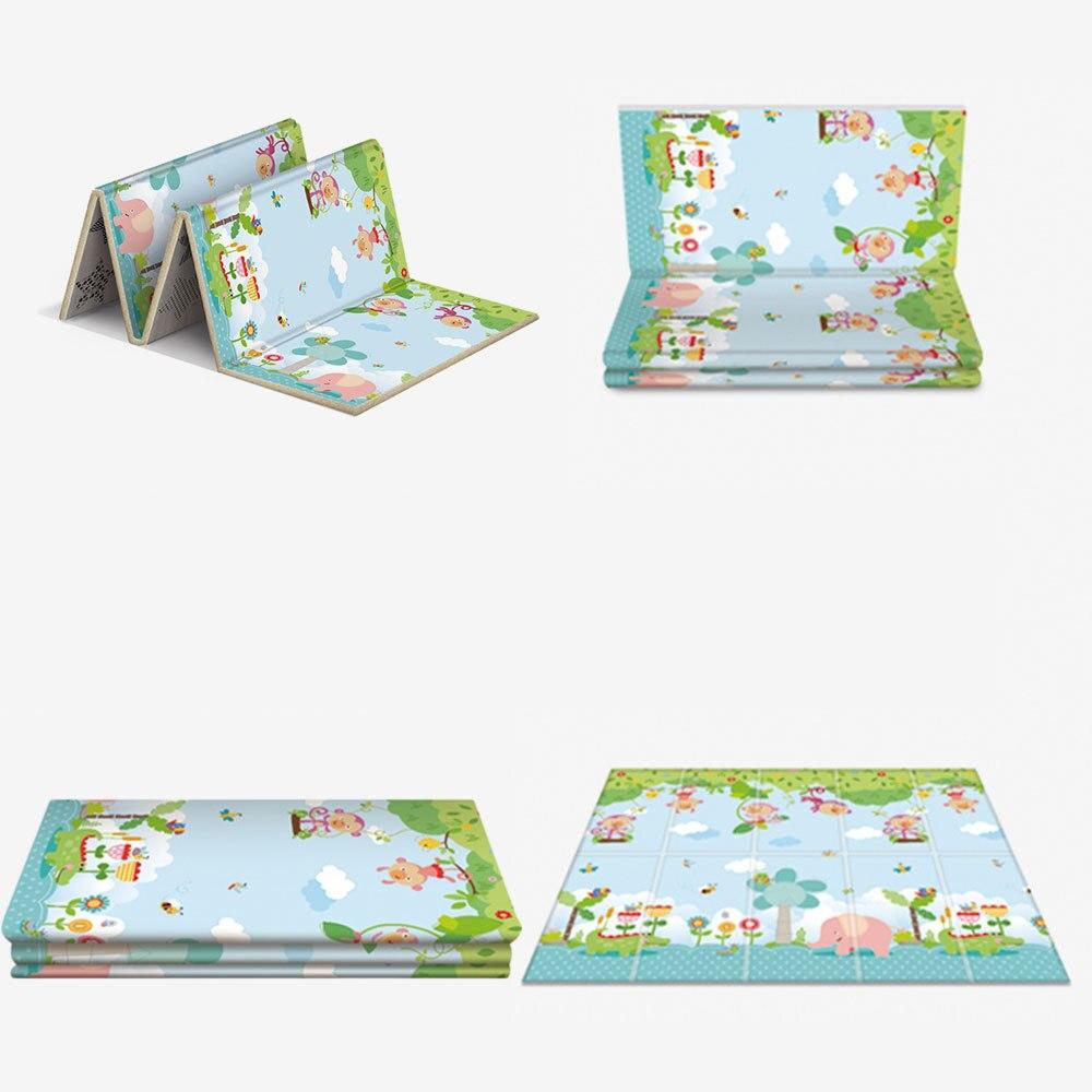 Tapis de jeu anti-dérapant pour bébé tapis de jeu pliant pour enfants tapis de jeu en mousse souple tapis rampant matelas de jeu tapis de jeu d'activité - 5