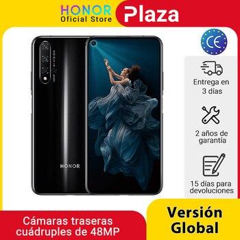 Перейти на Алиэкспресс и купить Глобальная версия Honor 20 смартфон 6 ГБ 128 ГБ Kirin 980 6,26 ''48MP четыре камеры сотовый телефон Google play superCharge NFC