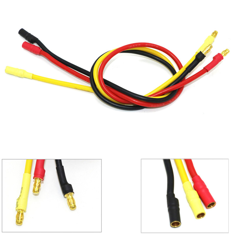 3 pcs/lot 300mm 30 cm 3.5mm or balle banane RC moteur Brushless ESC connecteurs Extension câble fil 16 awg