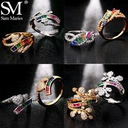 Роскошное кольцо 3A, милое сердце, цветок, Бабочка, радуга, Кристалл, кольцо, принцесса, очаровательное кольцо, вечеринка ЛГБТ, подарок, ювелир...