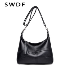 SWDF Fashion Women Messenger Bags Crossbody Soft PU Leather Shoulder Bag High Quality Women Bags handbag In Buckets Purse Sac