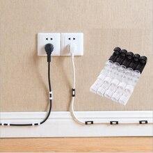 منظم الكابلات مدير الأسلاك مشابك كابلات إدارة سطح المكتب ABS الحبل حامل USB كابل نقل بيانات كابل الطاقة لسماعة لوحة المفاتيح