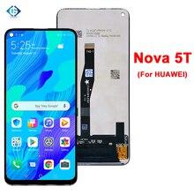 """מסך עבור Huawei נובה 5T LCD תצוגת מסך מגע Digitizer פנל 6.26 """"Lcd עבור Huawei Nova5T YAL L21 YAL L61 YAL L71 תצוגה"""