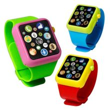 Hot Children Kids Early Education Toy WristWatch 3D Touch Screen Music Smart Teaching Baby Birthday Gifts 3 colors randomly(China)