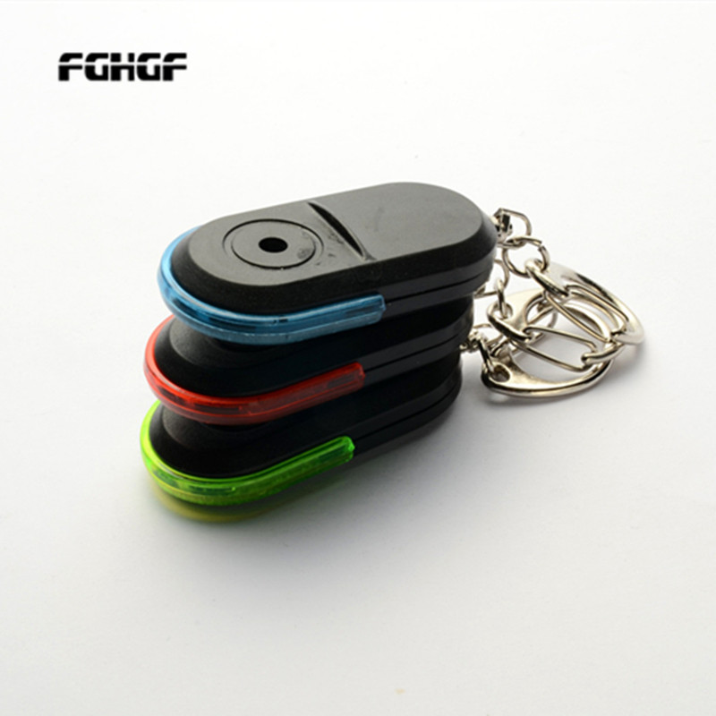 New Arrival Wireless 10m Anti-Lost Alarm Key Finder Locator Keychain Whistle Sound With LED Light Mini Anti Lost Key Finder