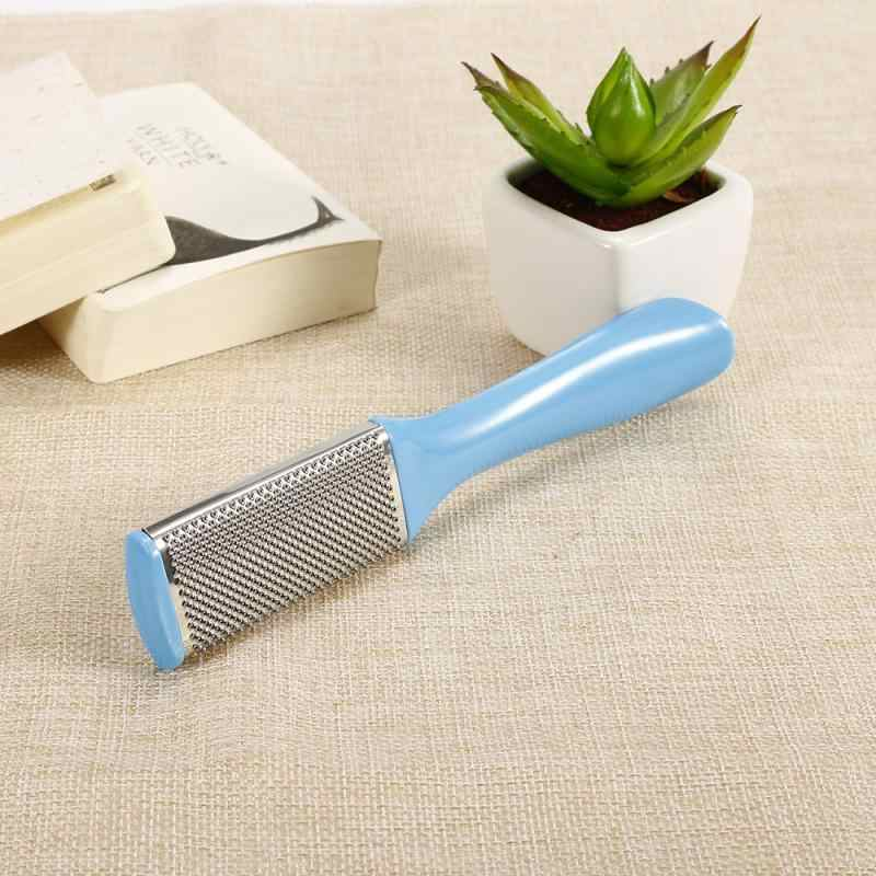 1PC Stainless Steel Double-sided Footboard File Sandpaper Flat Pedicure Nail File Remove Dead Skin Calluses Care Nail Tools