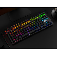 G87 oyun klavyesi RK çift modlu Bluetooth kablosuz/USB kablolu RGB arkadan aydınlatmalı klavye mekanik klavye oyun PC Laptop için