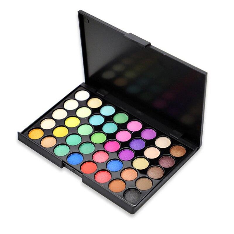 40 Colors Nude Glitter Pearl EyeShadow Palette Long Lasting Nude Matte Eye Shadow Cosmetic Diamond Shimmer Eye Primer Pigment