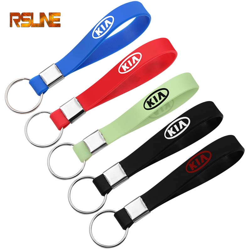 Luminous Silica Gel Car Keyring Car Sticker Key Chain Styling For Kia Ceed Cerato Rio Rio 3 Rio 4 Picanto K5 K9 Car Accessories
