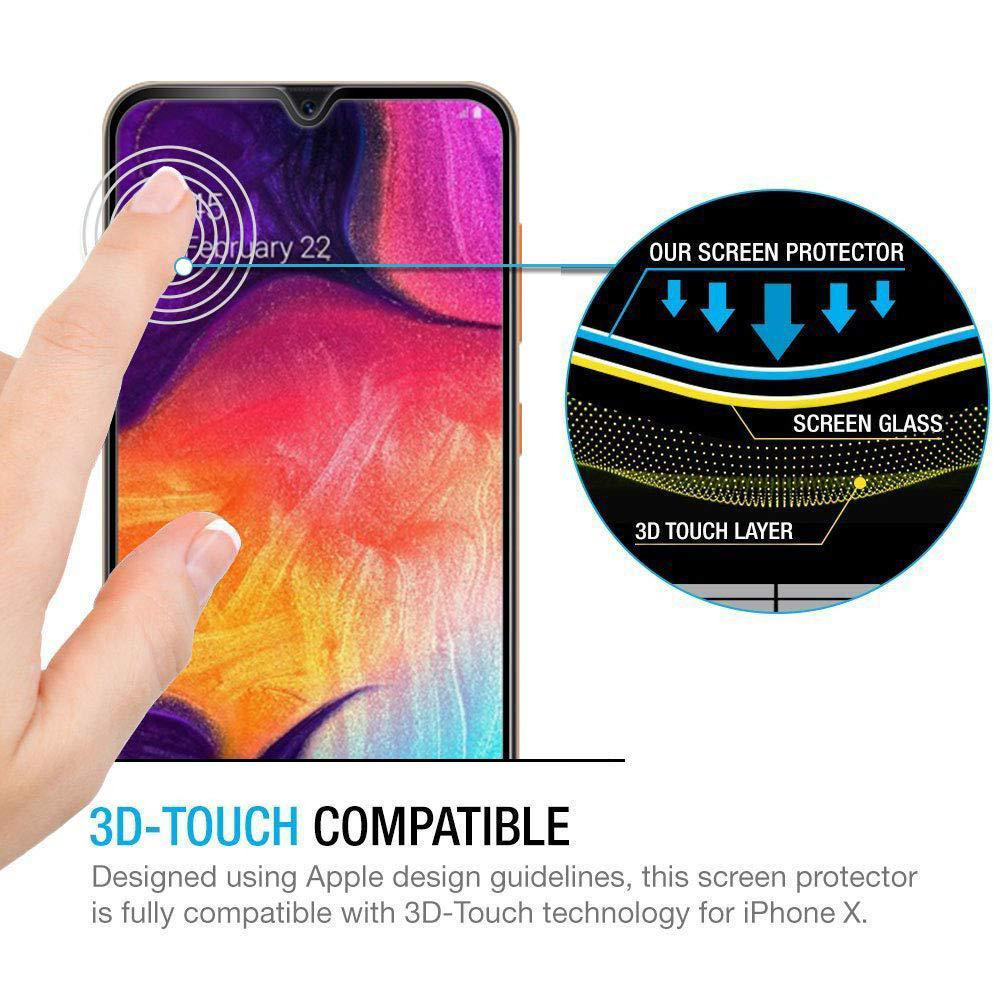 Full Coverage Tempered Glass For Samsung Galaxy A 10 20 30 40 50 60 70 80 20E 40S A2 J4 J6 Core 35D Screen Protector Protective in Phone Screen Protectors from Cellphones Telecommunications