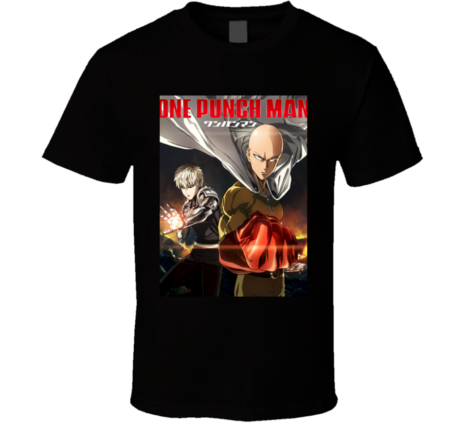New One Punch Man Anime Tv Show Poster Men'S T-Shirt Clothing Size S-2Xl 2Xl 9Xl Tee Shirt image