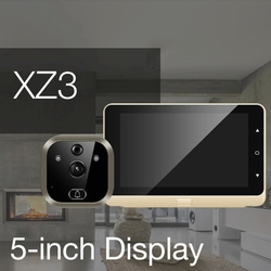 HD цифровой дверной глазок камера 5 Визуальный дверной зритель инфракрасного ночного видения Обнаружение движения широкий угол перезаряжа...