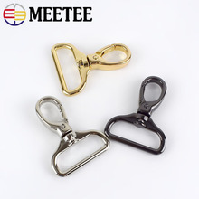 Meetee 4pc 32mm Metal Bag Strap Spring Hook Buckle Backpack Chain Hang DIY Hardware Leather Crafts Part Accessories BF032