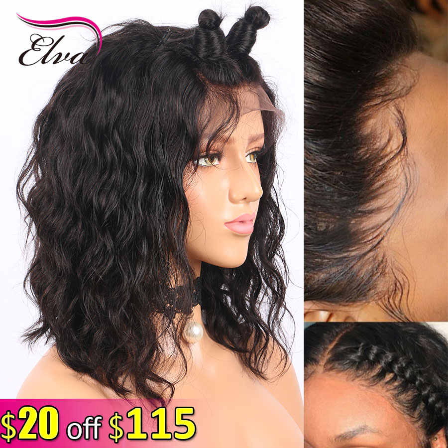 Elva Hair 13x6 Lace Front Human Hair Wigs Natural Wave Brazilian Remy Hair Lace Wigs For Black Women Pre Plucked With Baby Hair
