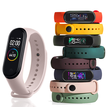 Strap for Mi Band 3 4 5 6 Bracelet for Mi Band 4 5 Strap Silicone Sport Watchband for Xiaomi Band 6 3 Replacement Wristband 1