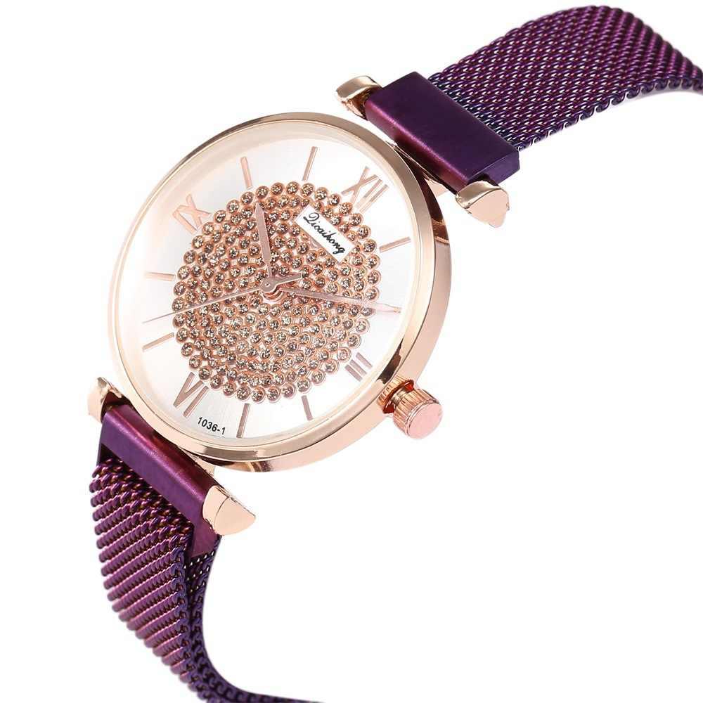 Wykwintne europejska i amerykańska zegarki mediolan z magnesem klamra Mesh moda damska zegarek kwarcowy dla studenta