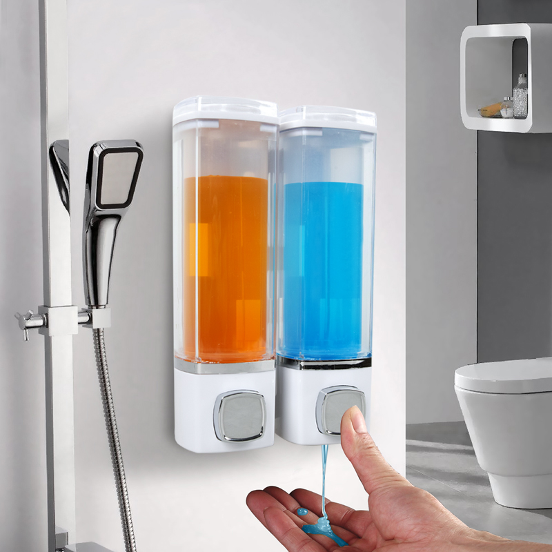 New Single/Double 280ML Soap Dispenser Wall-mount Shower Bath Shampoo Dispenser Liquid Soap Container Bathroom Accessories