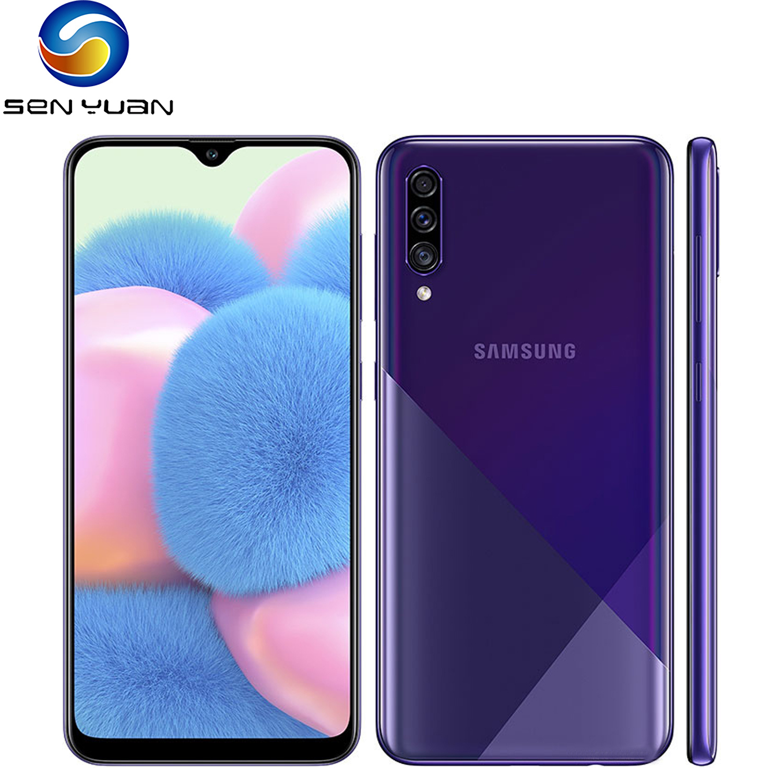 Восстановленный разблокированный сотовый телефон оригинальный Samsung Galaxy A30s 6,4 ''4 Гб + 64 Гб 2 сим-карты 4 аппарат не привязан к оператору сотовой...