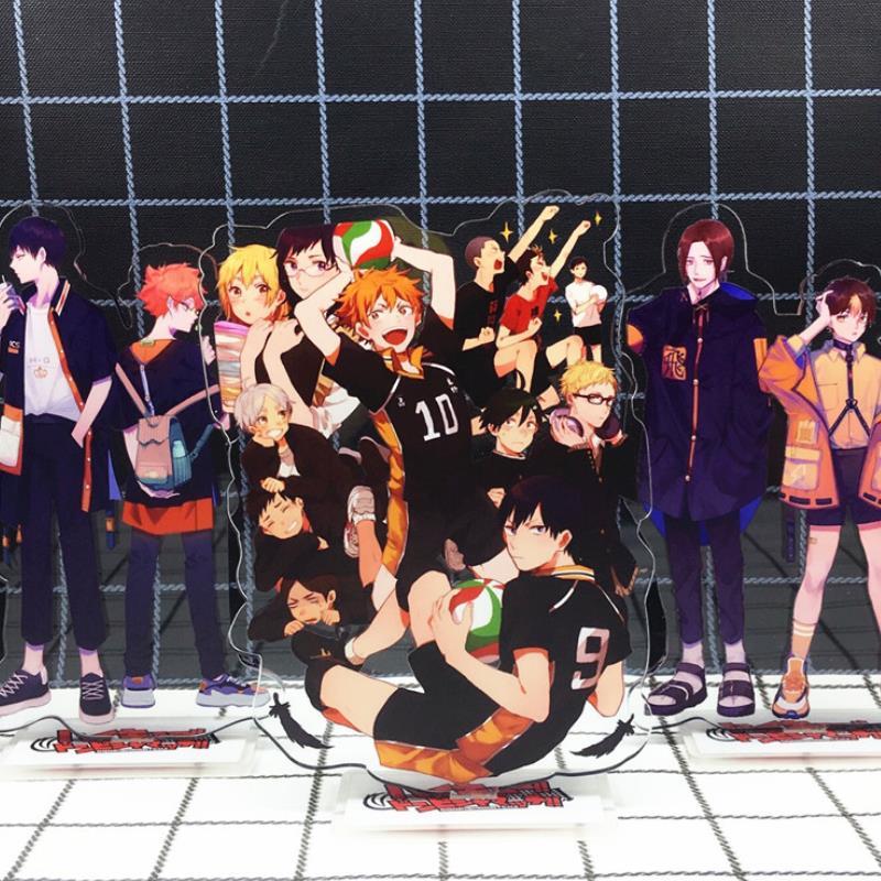 1pc New Haikyuu Hinata Kageyama Tsukishima Sugawara Family Acrylic Stand Figure Model Plate Holder Topper Anime Karasuno Toys
