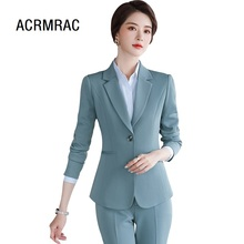 Women suits spring Long sleeve blazers pants Office Lady For