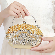 Women Crystal Handbags Clutch Bags Luxury Retro Evening Bag Totes Wedding Bride Chain Purse Ladies Small Crossbody Shoulder Bags