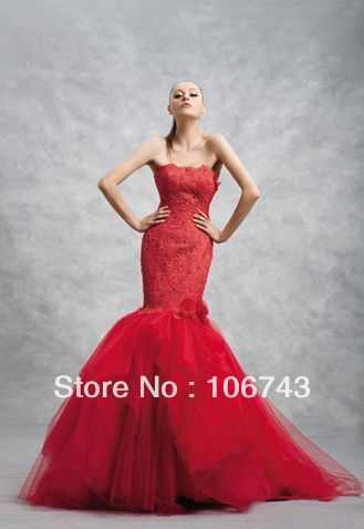 Free Shipping 2016 New Style Hot Sale Sexy Bride Wedding Sweet Princess Custom Size High Quality Lace Handmade Flower Prom Dress