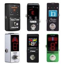 NUX Afinador Cromático de guitarra Mini, sintonizador de Pedal con pantalla LCD/LED, True Bypass AROMA AT 07, Pedal de guitarra, Rowin PT 6