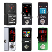 NUX PT 6 튜너 미니 크로매틱 기타 튜너 페달 튜너 LCD/LED 디스플레이 트루 바이 패스 아로마 AT 07 기타 페달 Rowin LT 910