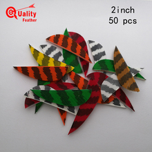 New  50pcs 2''Real Turkey Feather Water drop Striped archery Arrow Feather Cut Fletching Hunting Shooting Diy Arrow Accessories кроссовки overcome 87519