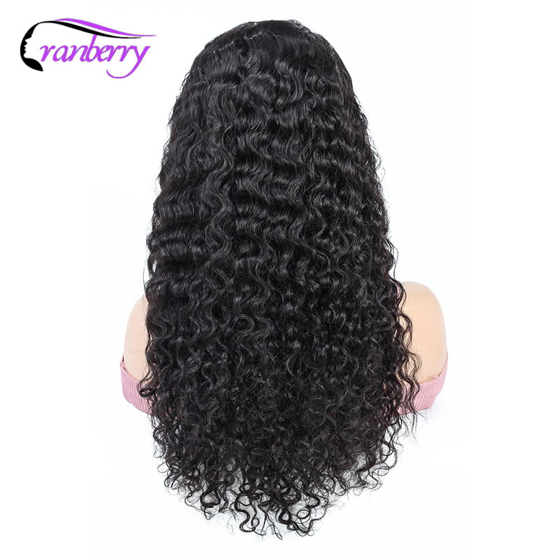 Cranberry 13X4 Lace Front Human Hair Wigs Brazilian Hair Water Wave Lace Front Wig Remy Human Hair Lace Front Wigs Black Women