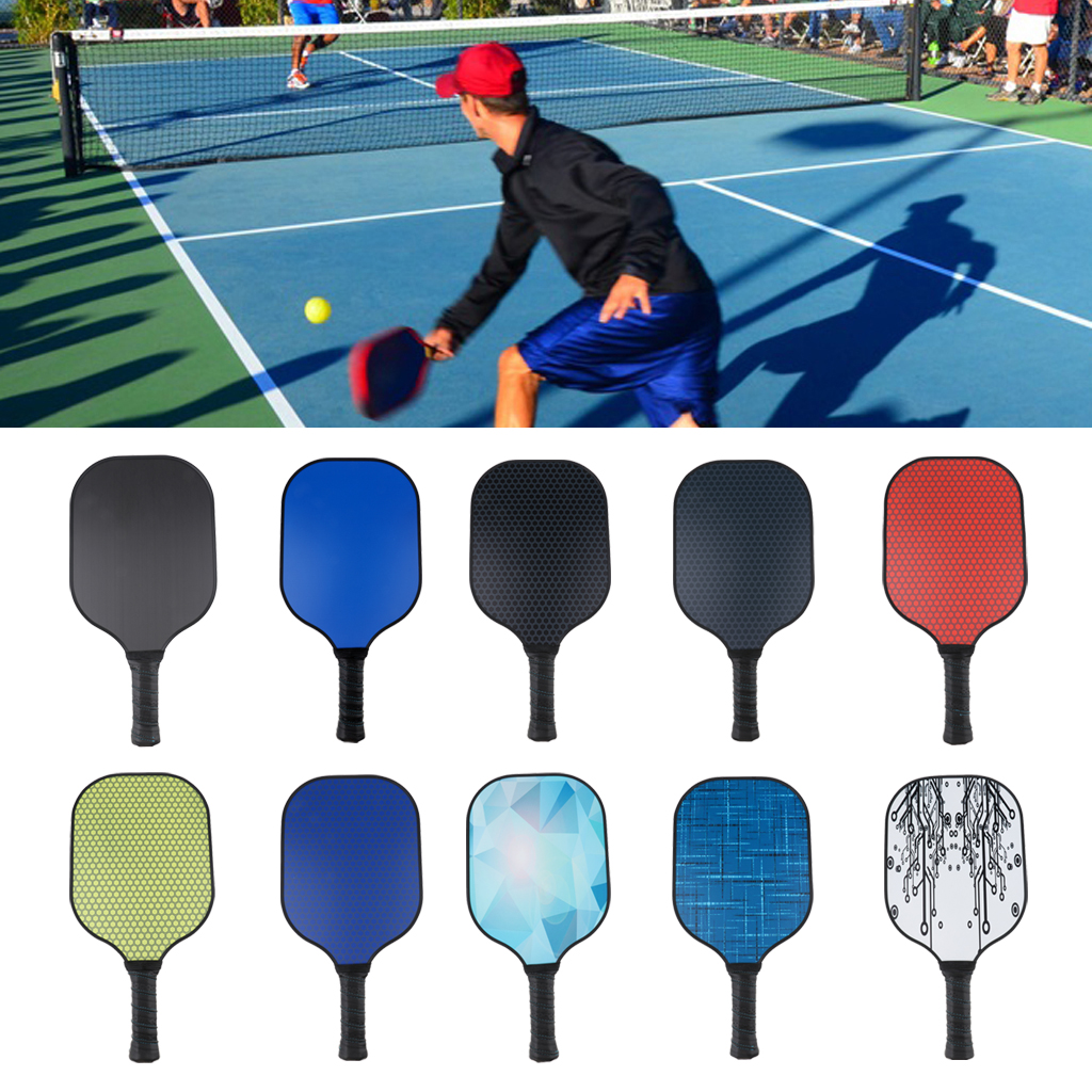 Pickleball Paddle With Composite Honeycomb Core And Carbon Fiber Face Lightweight
