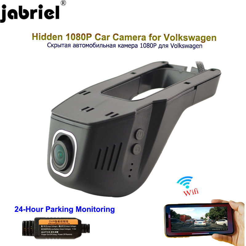 Jabriel 24 hour Car Camera 1080P car dvr dash cam video recorder for Volkswagen polo vw golf 4 5 7 mk3 mk4 passat tiguan touareg|DVR/Dash Camera| - AliExpress
