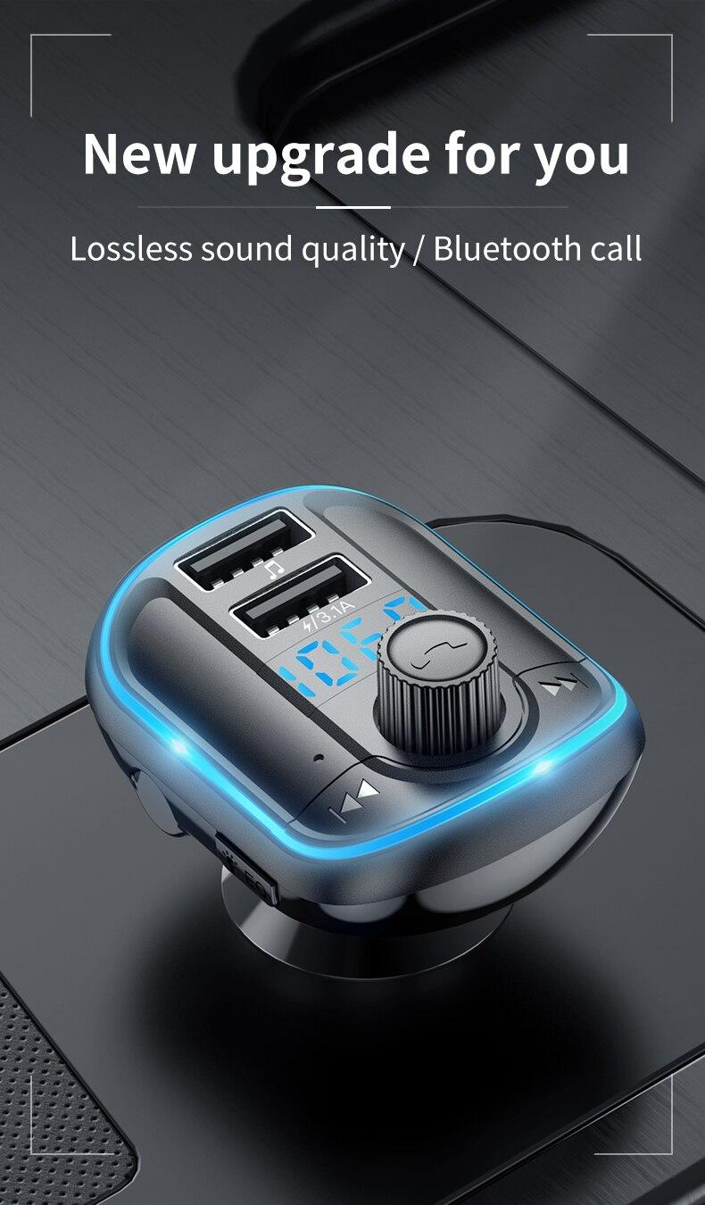 bluetooth 5.0 transmissor fm para acura rdx