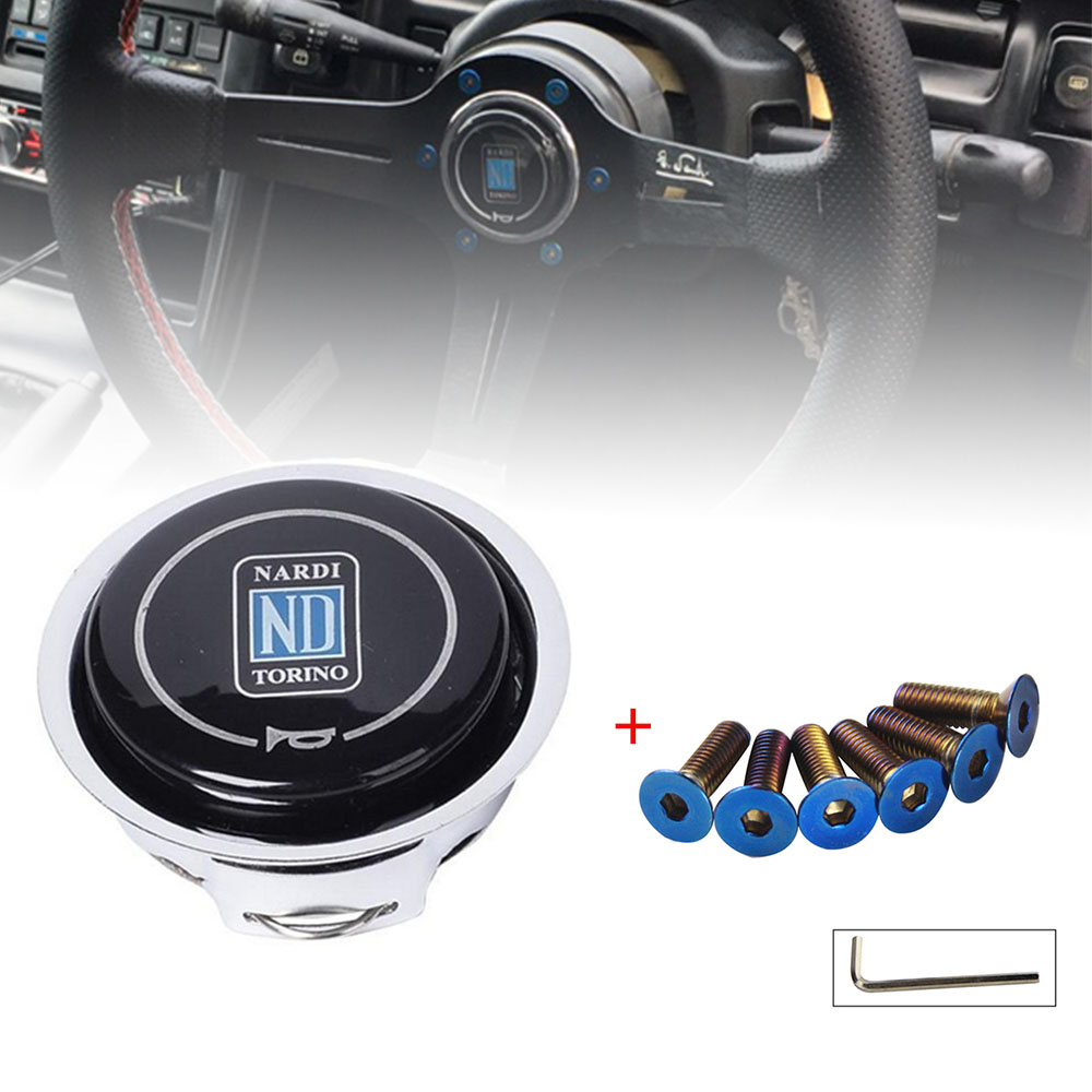 Universal Car Interior Parts ND Horn Cover Metal   Plastic Modified Car Horn Button Racing Car Steering Wheel Horn Cover