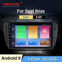 MEKEDE 11024x600 Android9.0 Radio Car DVD for SEAT IBIZA 2009 2014 with best Radio Mirroring Link option DVR DAB Antenna