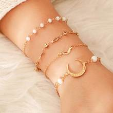 4Pcs X Stainless Steel Charm Love Adjustable Bracelet Chain Anklet Gift Fashion Earrings For Women 2019 Statement #4S16(China)