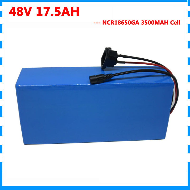 High quality 1000W 48V 17.5AH electric bike battery 48V 17AH Scooter lithium battery use NCR GA 3500mah cell 30A BMS|bike mask|battery pocket bike|battery polisher - title=