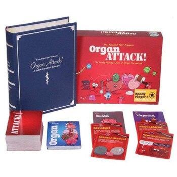 Juguete de juego de mesa de ataque de órgano, divertido entretenimiento, juegos de cartas, niños, adultos, familia