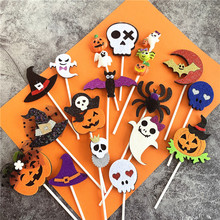 Witch-Hat Cake-Wrapper-Supplies Cupcake Topper Bat-Pirate Felt-Material Spider Party-Cake