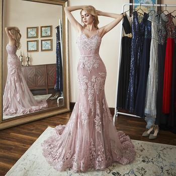 2019 Lace Mermaid Prom Dresses Angel Married Fashion Evening Dress Womens Pageant Formal Party