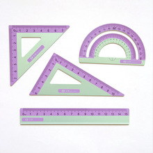 Protractor Ruler Measuring-Tool Geometry Drawing-Measurement Straightedge Aluminum-Alloy