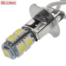 1/2 шт. H3 светодиодный лампы 5050 9SMD белый 6000K для авто противотуманные фары DRL Вождения LED светильник или Flash светильник фонари фара PK22S 6 V 6 вольт ...