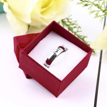 Hot Sale 1 Pcs Small Ring Pendant Gift Lilac Jewelry Ring Gift Display Packaging Bow Box Cardboard Necklace Earrings Ring Box image