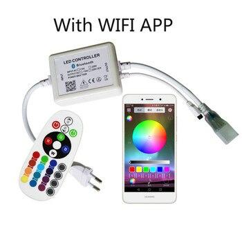 220V RGB controlador Bluetooth LED tira de Control para teléfono Bluetooth APP Remote Control RGB 5050 LED tira de Control